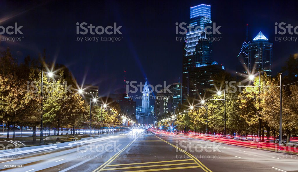 Philadelphia Nightscape stock photo