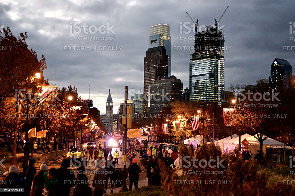 Philadelphia, PA Skyline at Sunrise stock photo