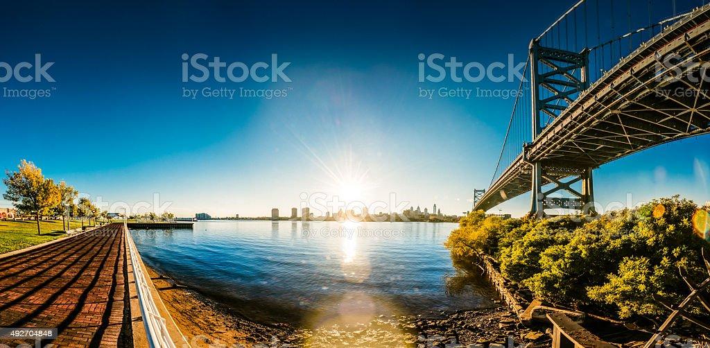 Philadelphia Panoramic Skyline stock photo