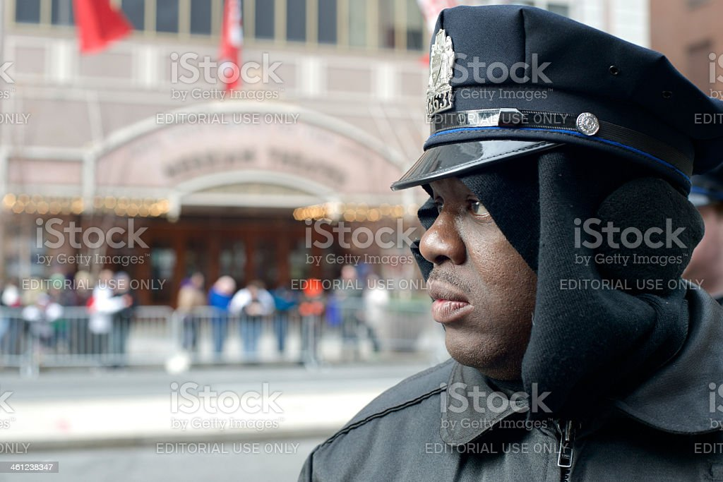Philadelphia Police Officer on street patrol stock photo
