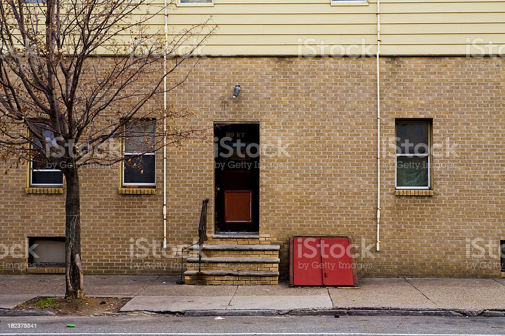 Philadelphia sidewalk and home royalty-free stock photo