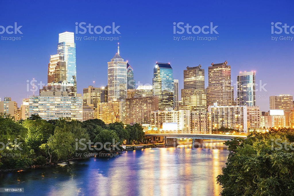 Philadelphia Skyline royalty-free stock photo