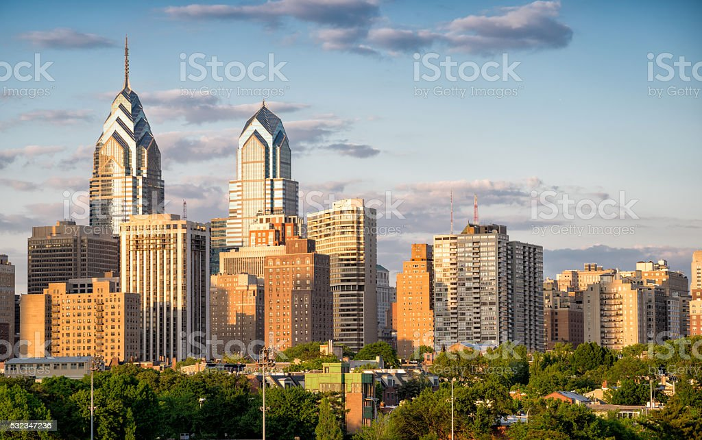 Philadelphia skyline stock photo