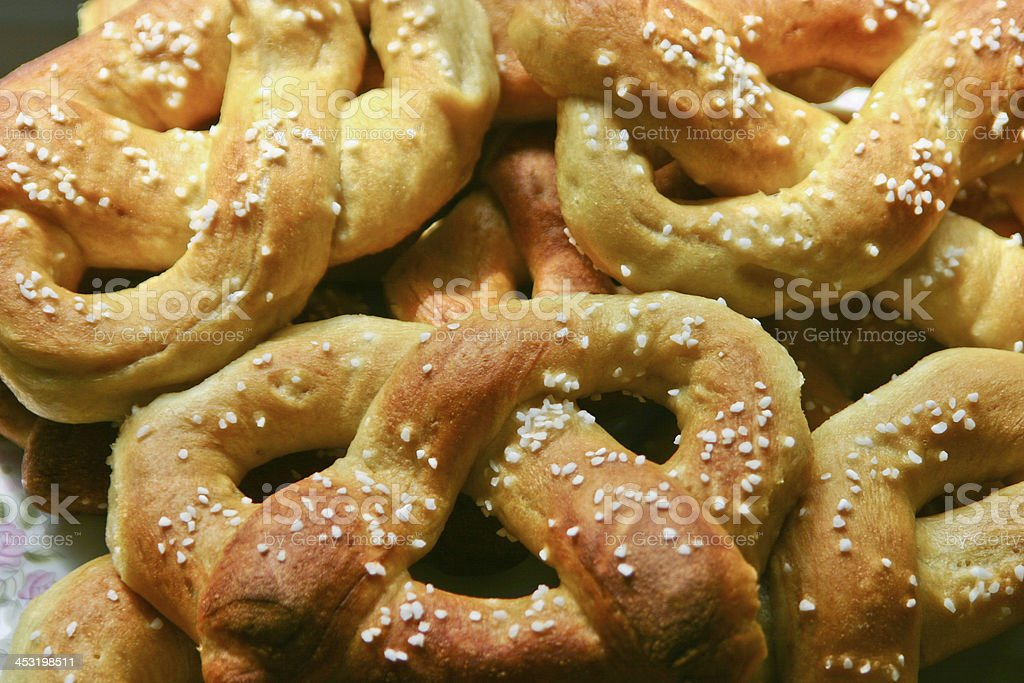 Philadelphia Soft Pretzels Fresh From the Oven royalty-free stock photo