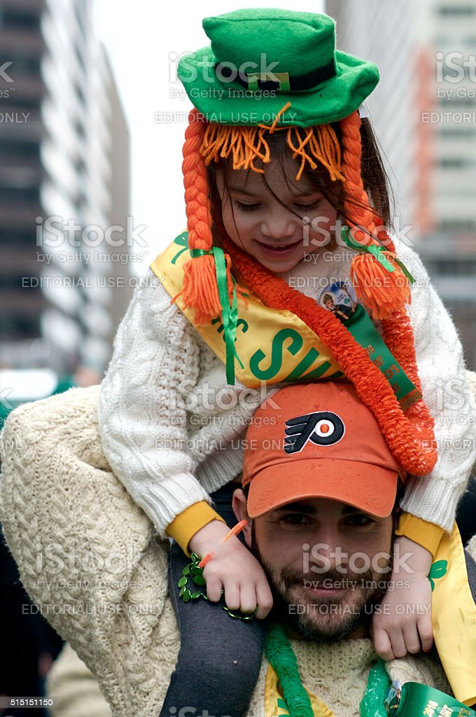 Philadelphia St. Patrick's Day Parade stock photo