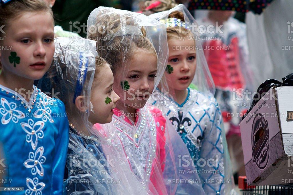 Philadelphia St. Patrick's Day Parade stock photo