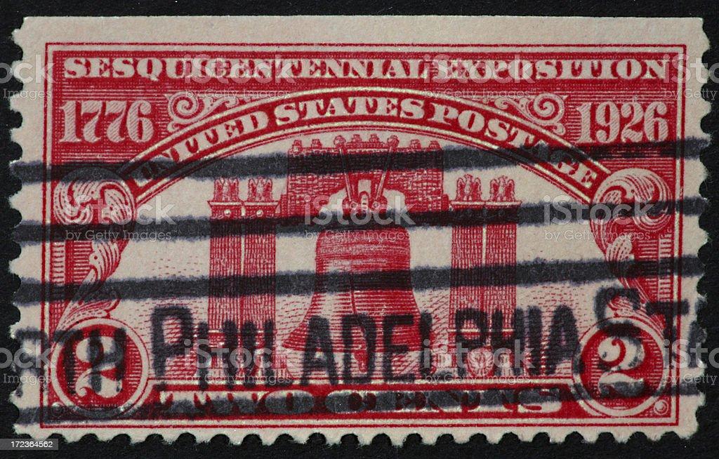 Philadelphia stamp 1926 royalty-free stock photo