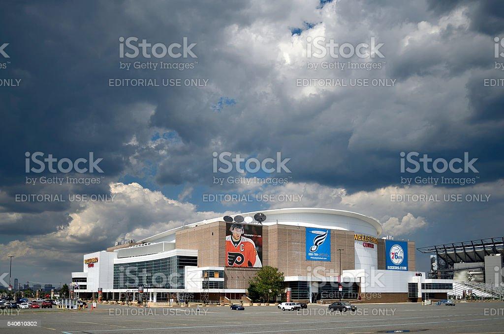 Philadelphia to host DNC at Wells Fargo Center stock photo
