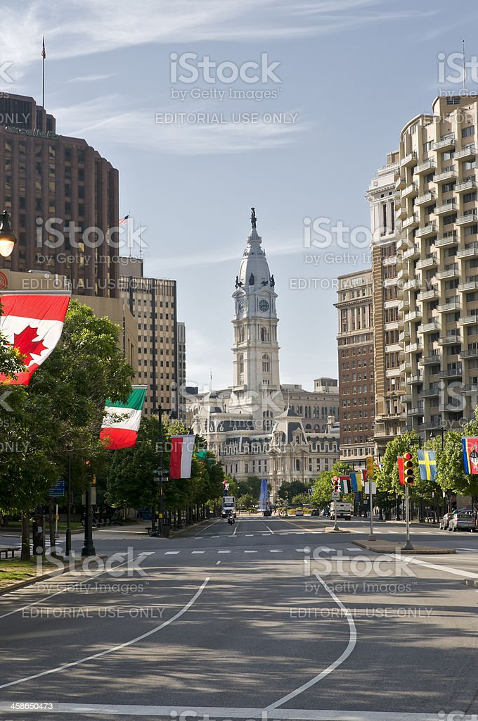 Philadelphia Town Hall stock photo