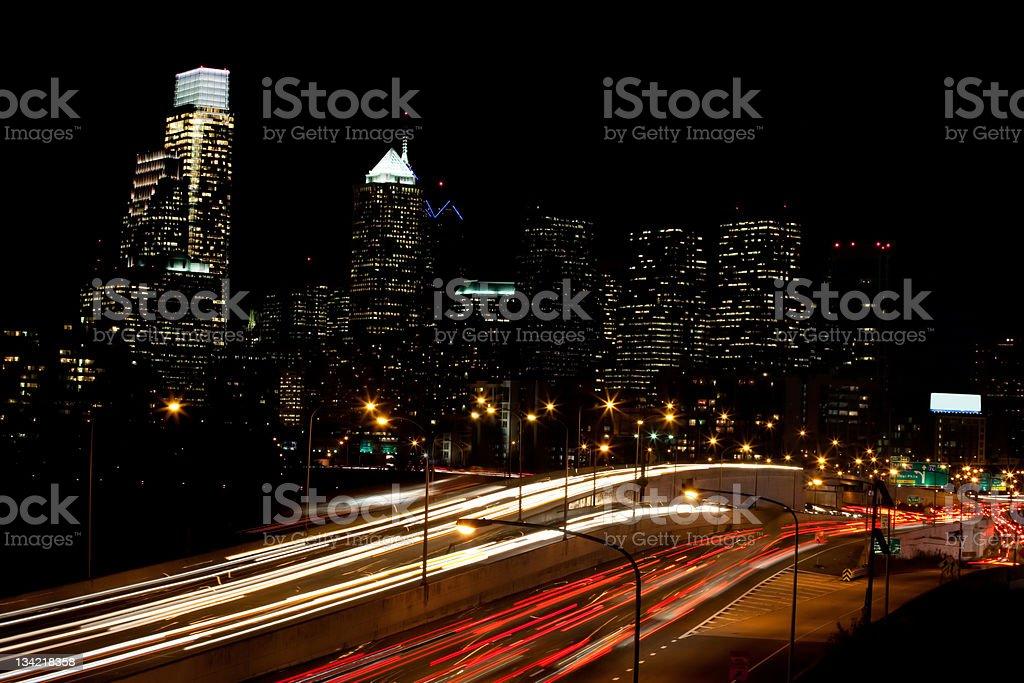 Philadelphia traffic at rush hour stock photo