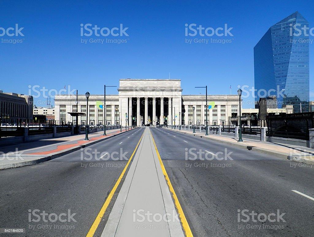 Philadelphia train station stock photo