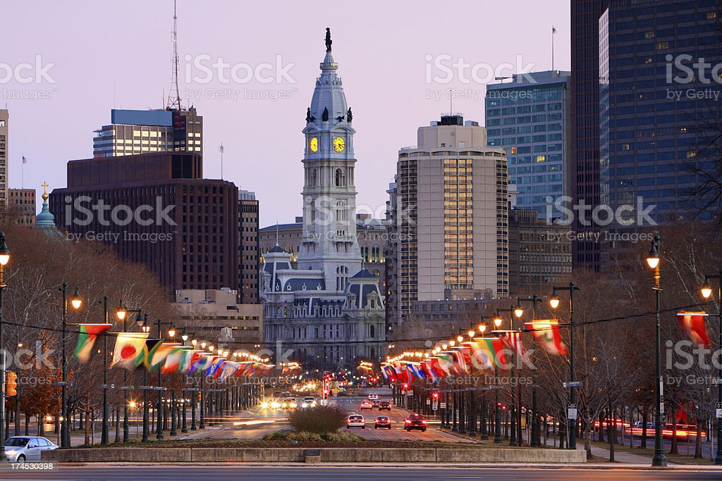 Philadephia City Hall stock photo