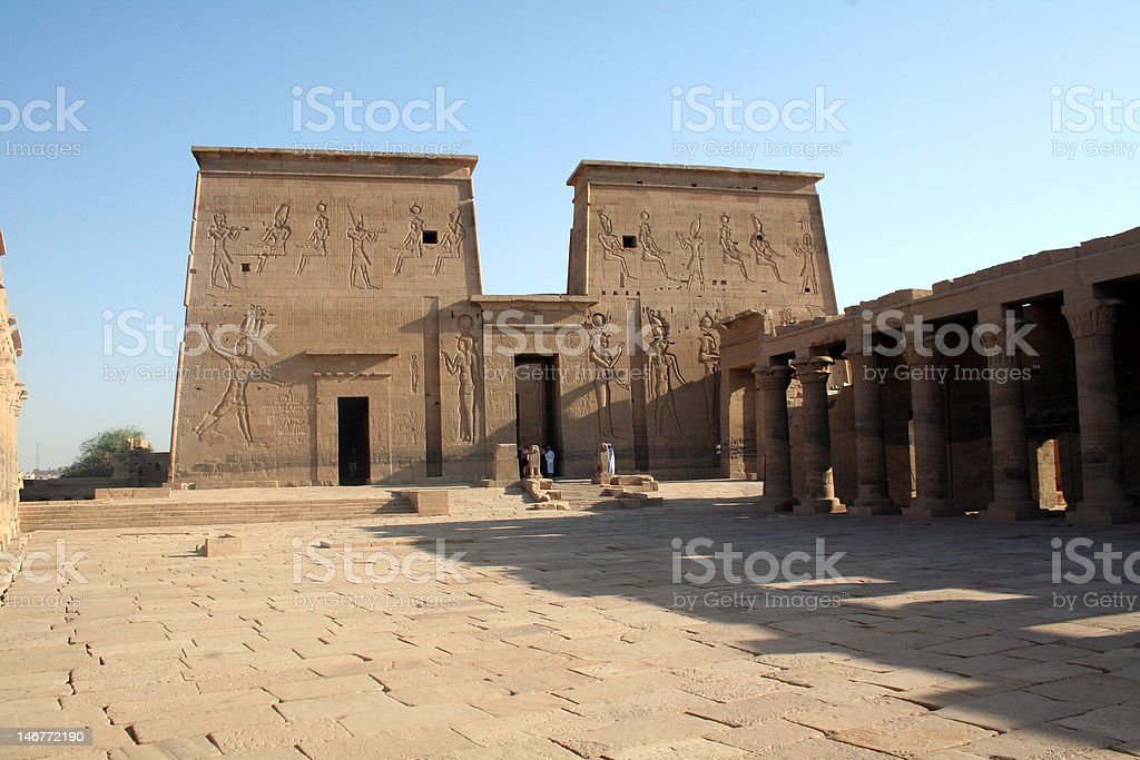 Philae Temple - Ancient Egyptian Monument stock photo