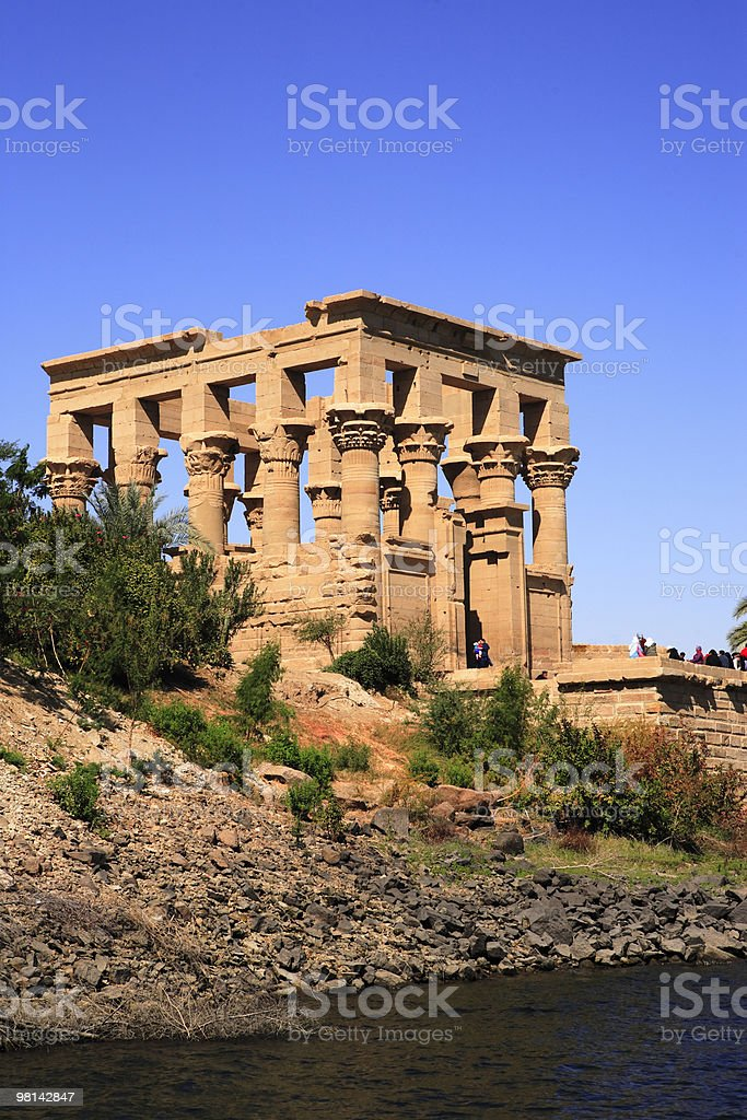 philae temple stock photo