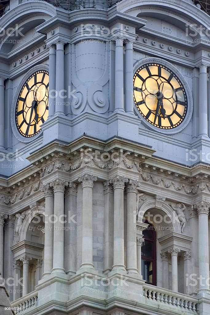 Phildelphia City Hall stock photo
