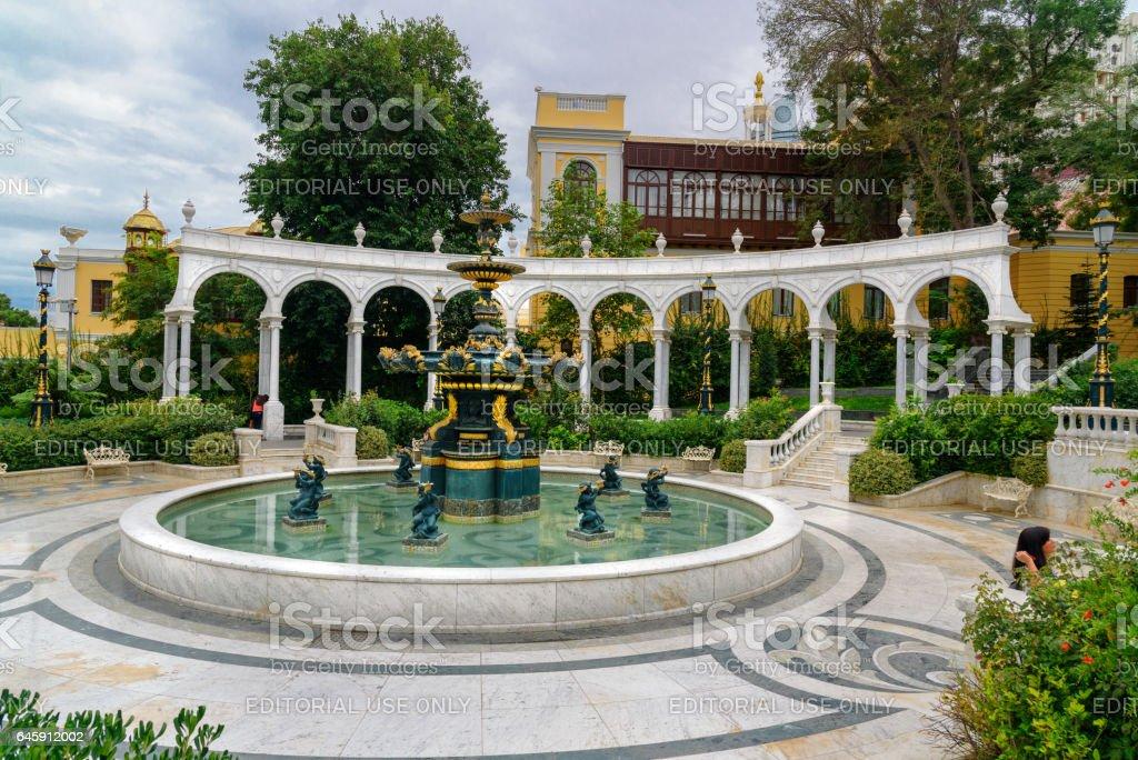 Philharmonic Fountain Park. Baku. Azerbaijan stock photo
