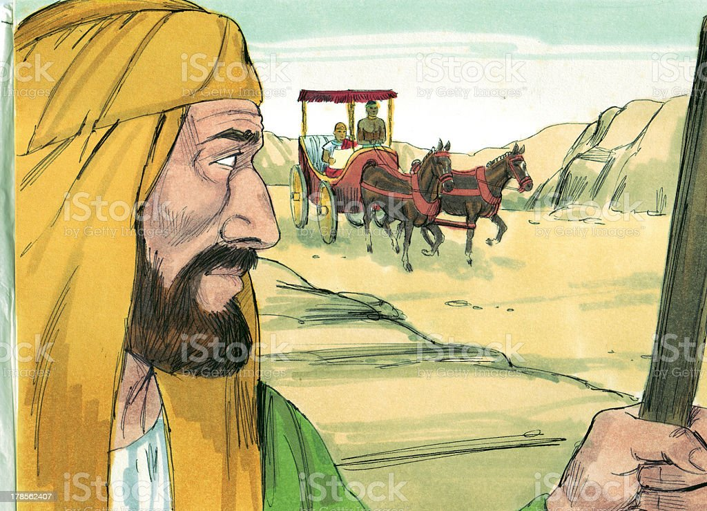 Philip Meets the Ethiopian Eunuch stock photo