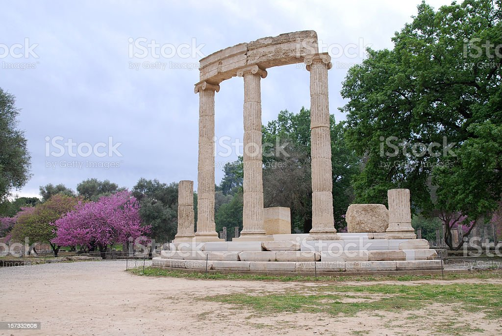 Philippeion at Ancient Olympia royalty-free stock photo