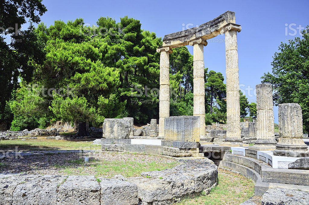 Philippeion at Olympia, Greece stock photo