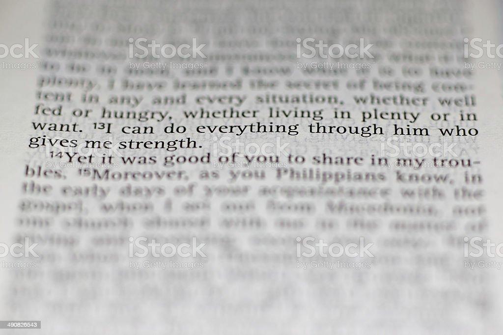 Philippians 4:13 stock photo
