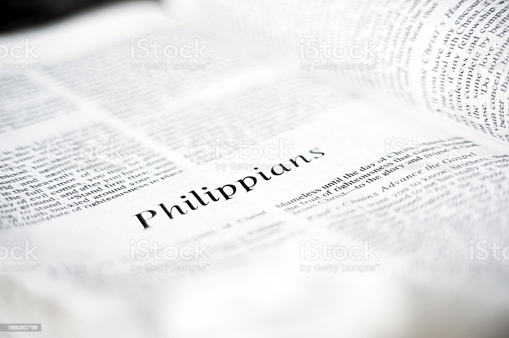 Philippians in the Bible stock photo