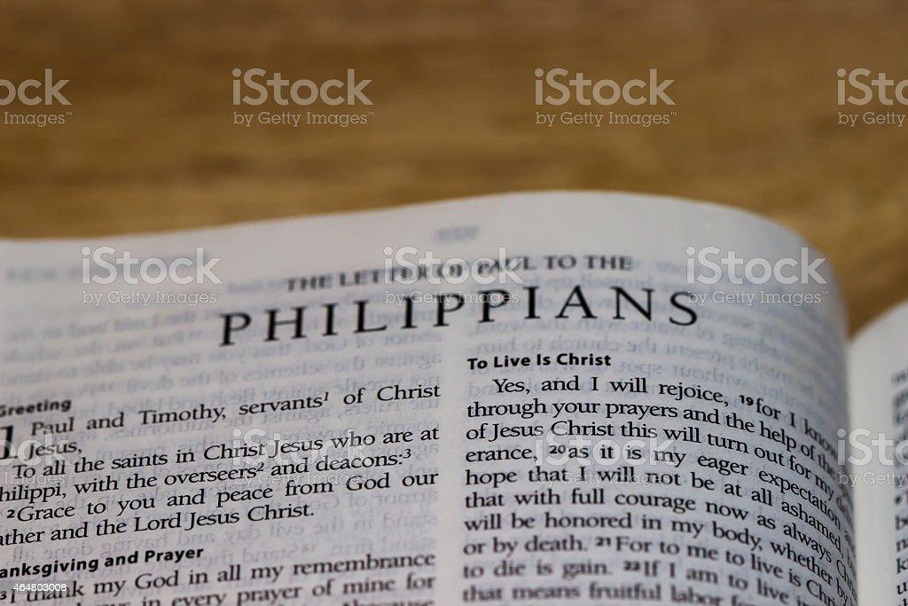 Philippians (Bible) stock photo