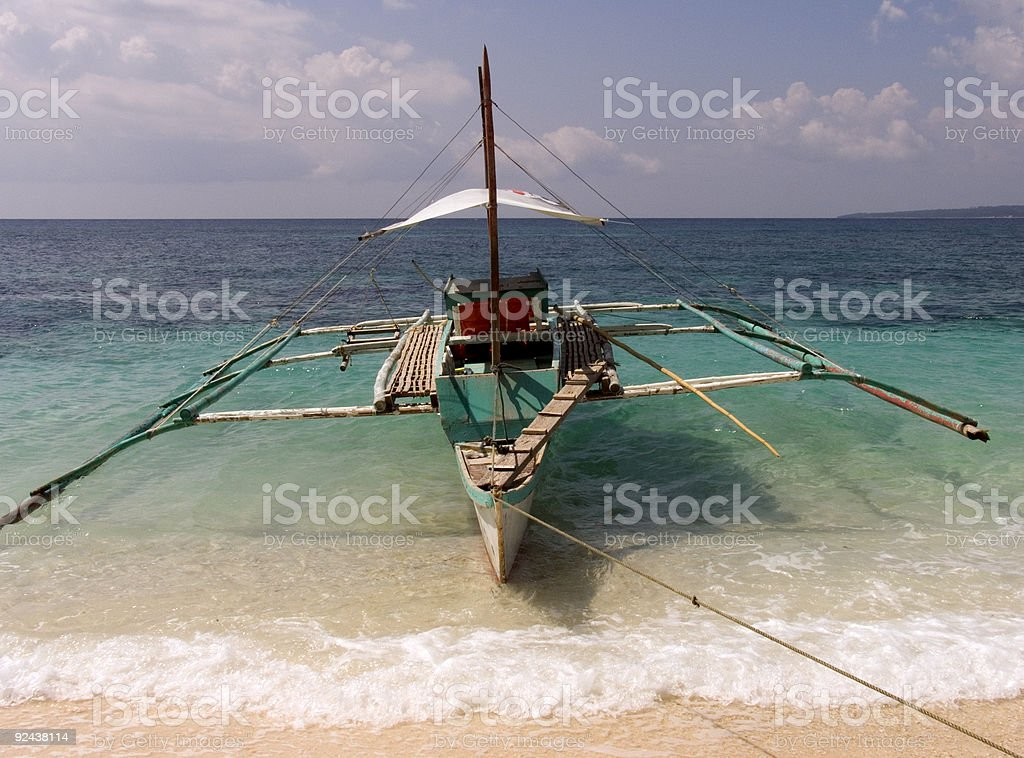 Philippine fishing boat 1 royalty-free stock photo