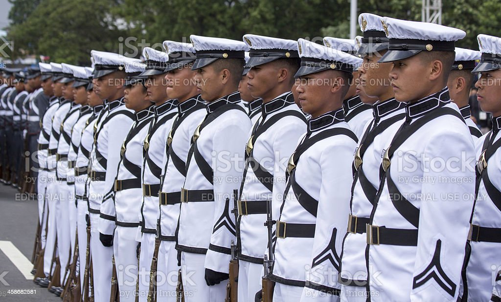 Philippine Millitary academy cadets stock photo
