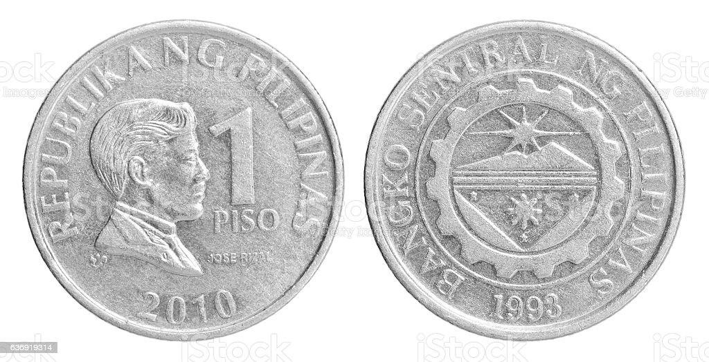 Philippine peso coin set stock photo