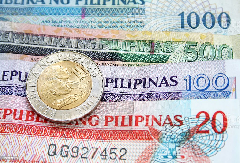 Philippine Peso royalty-free stock photo