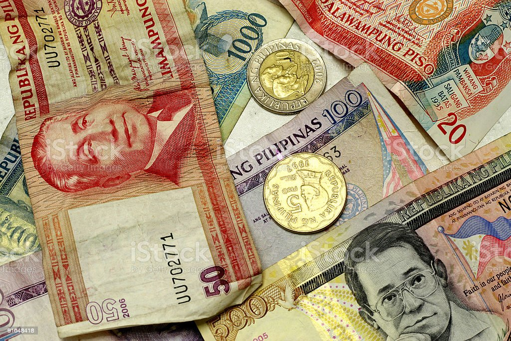 Philippine Peso royalty-free stock photo