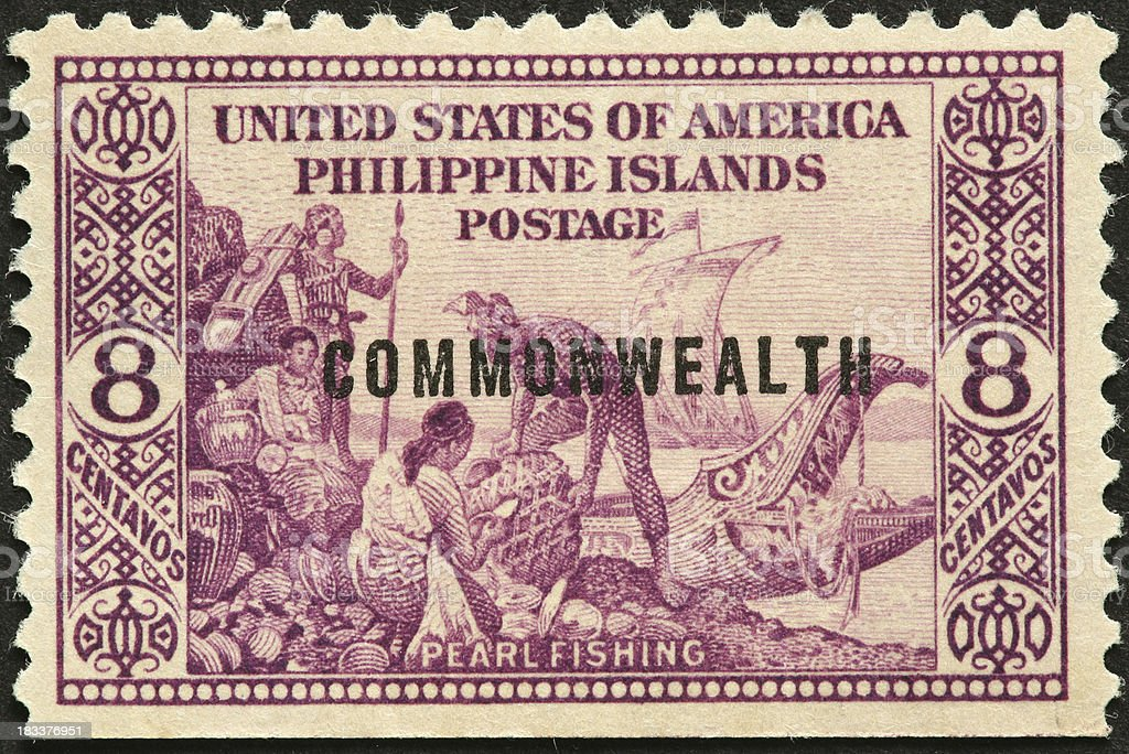 Philippine women pearl fishing royalty-free stock photo