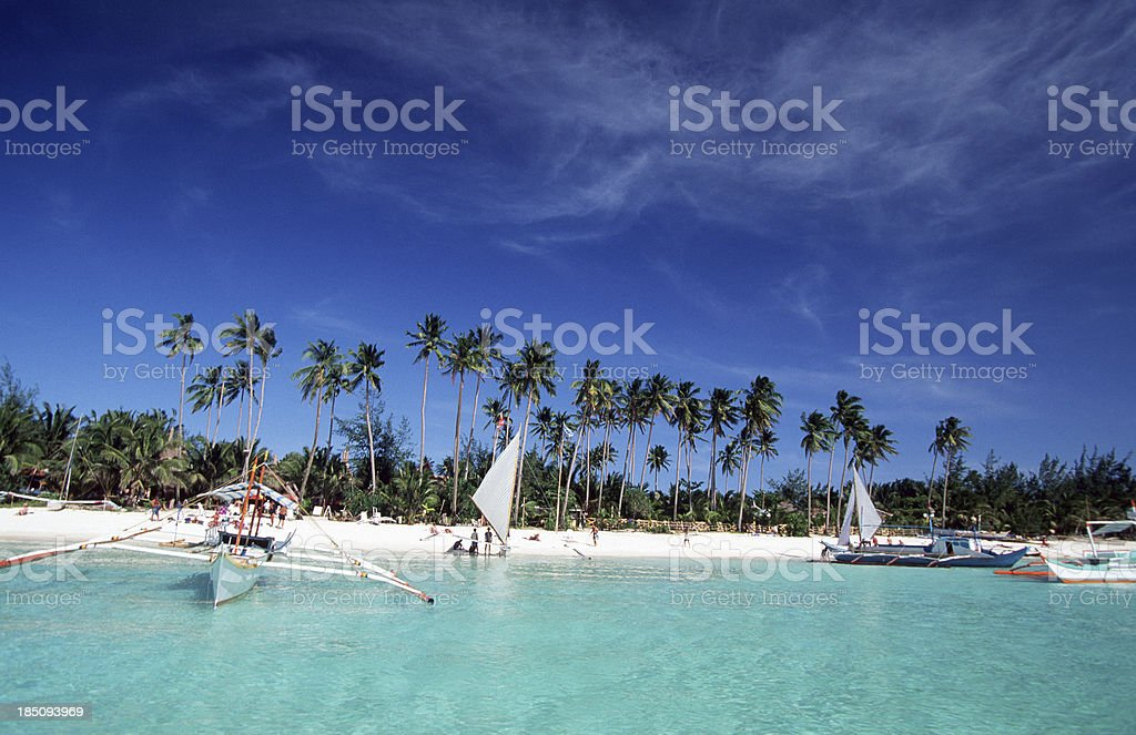 Philippines, Aklan Province, Boracay Island. royalty-free stock photo