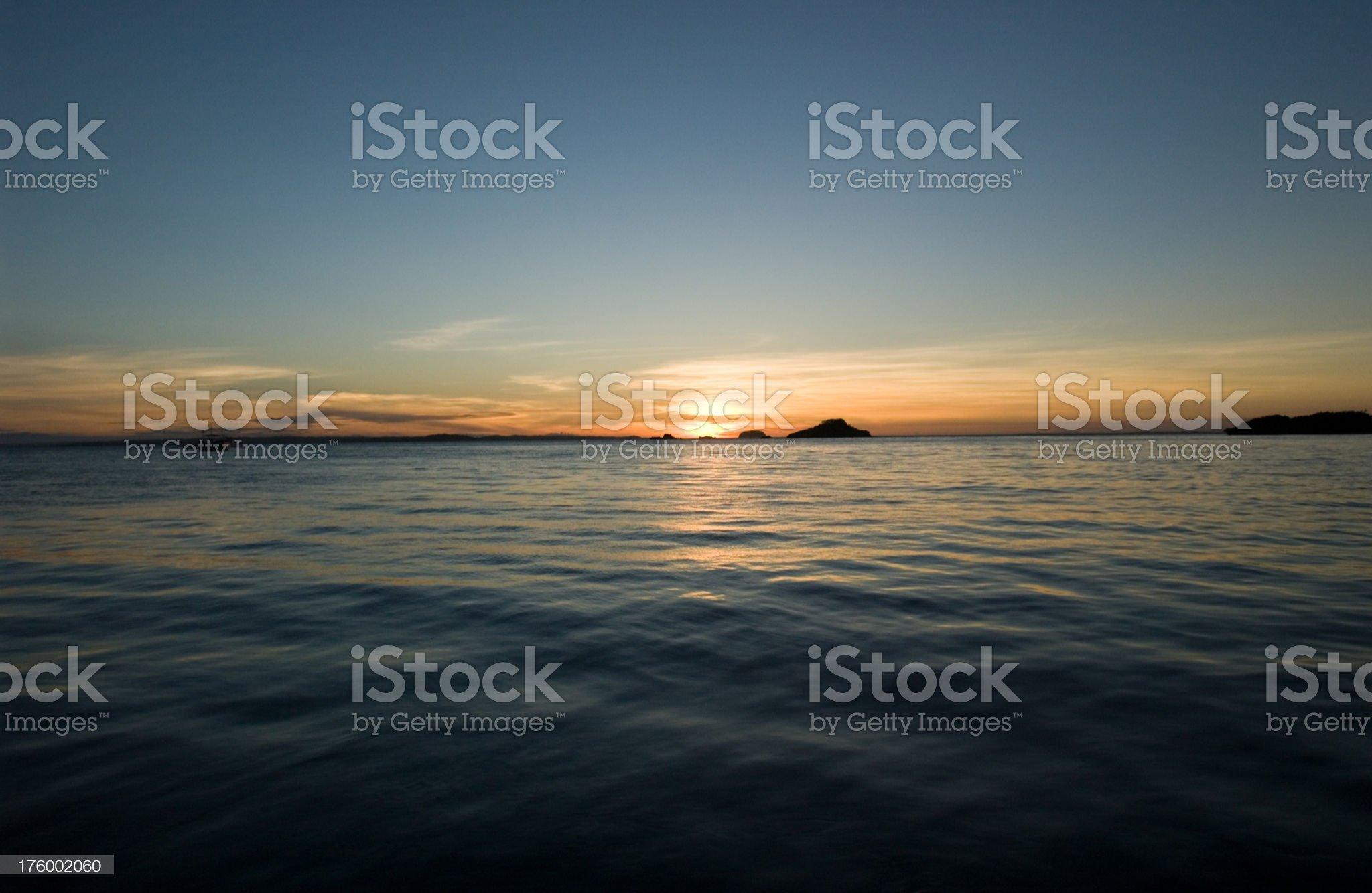Philippines Beach Sunset royalty-free stock photo