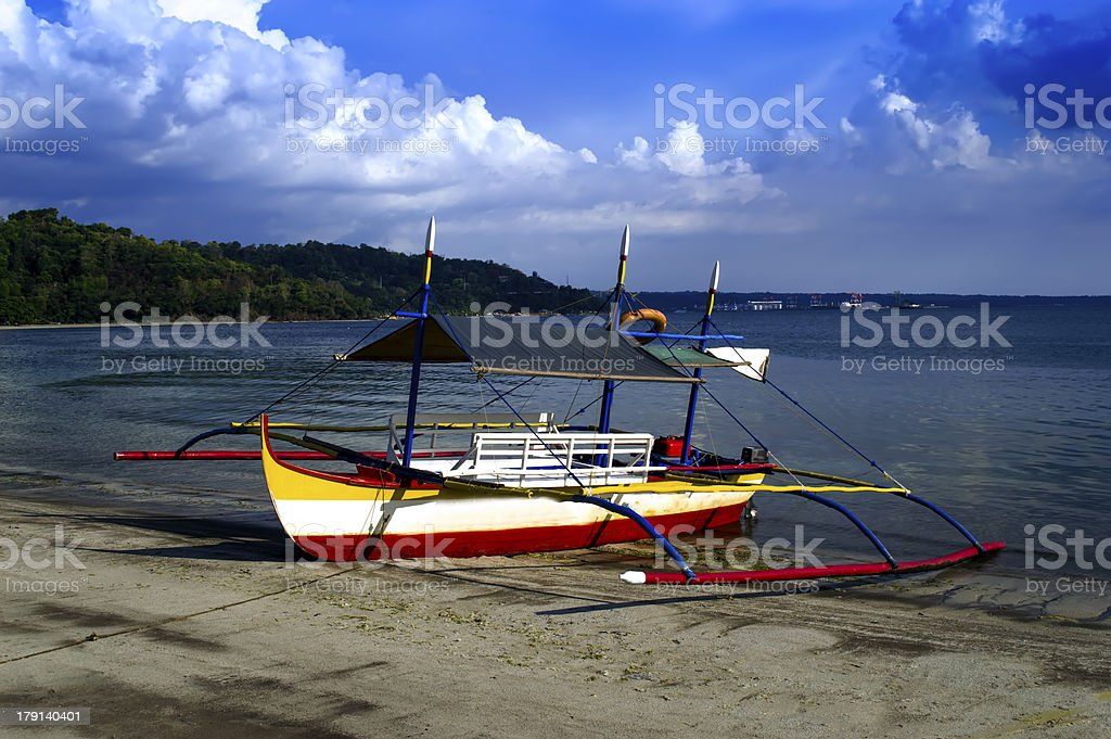 Philippines Boats in Subic Bay. royalty-free stock photo