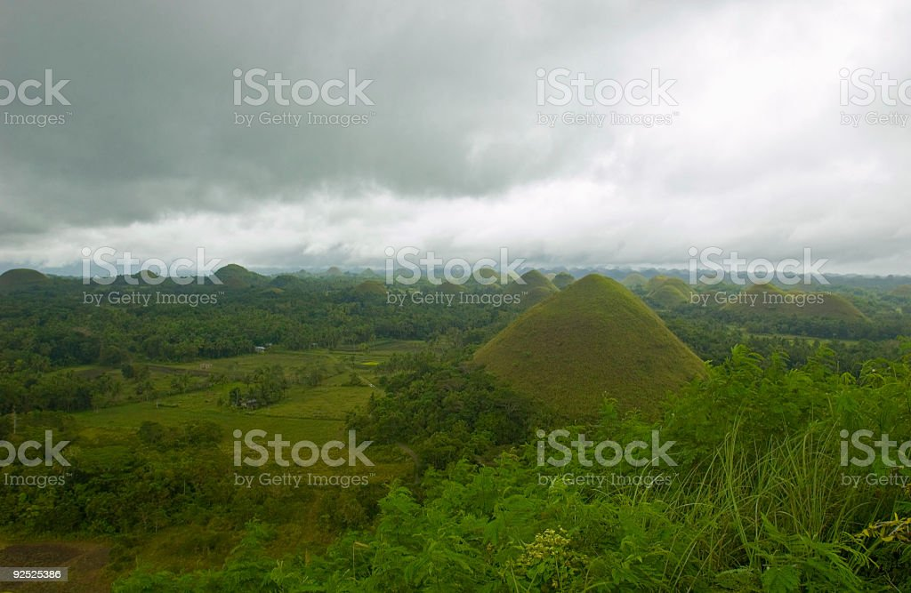 Philippines Bohol Chocolate Hills royalty-free stock photo