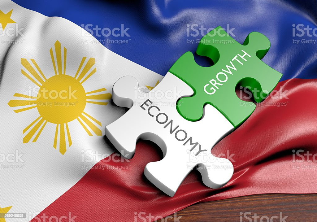Philippines economy and financial market growth concept, 3D rendering stock photo