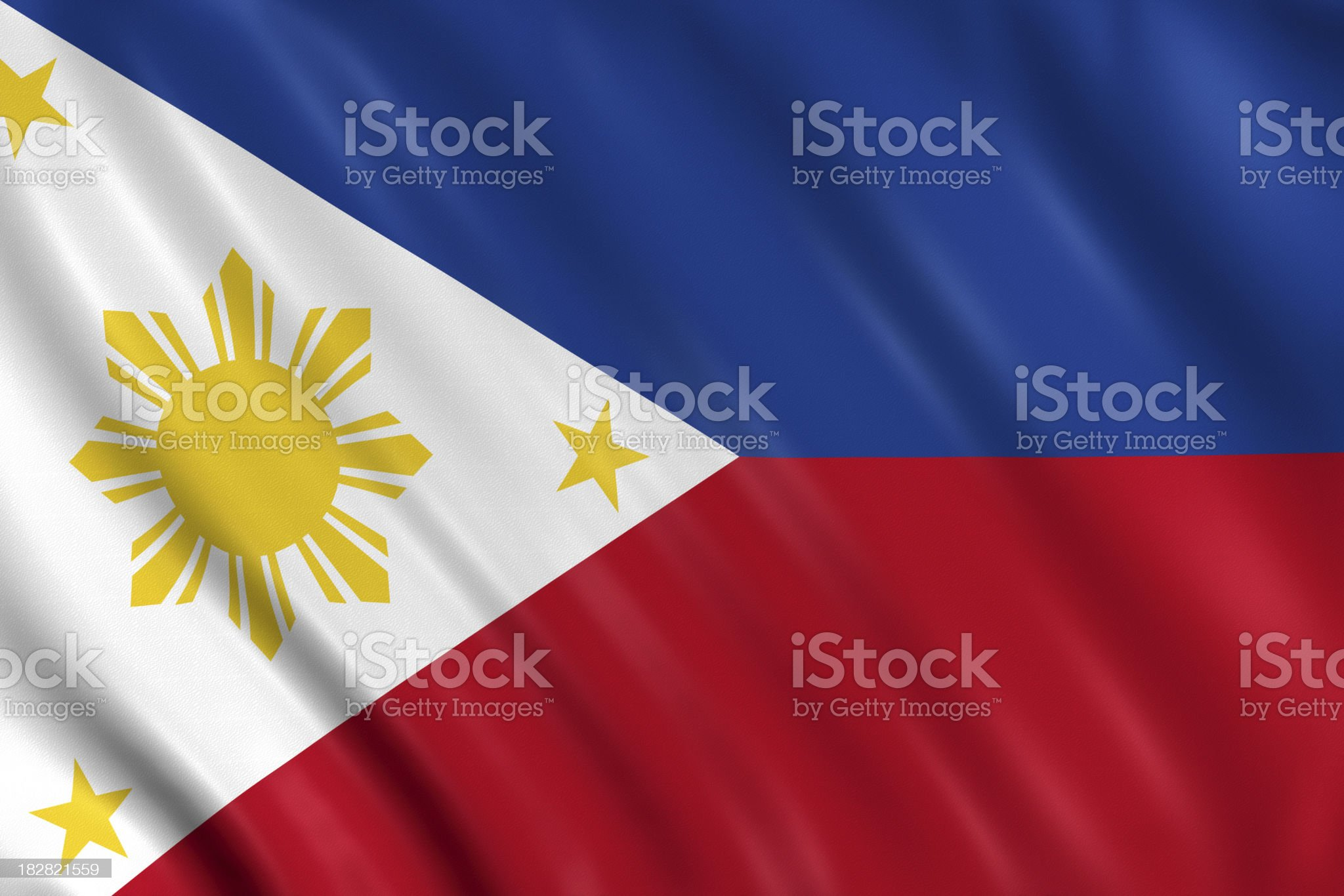 philippines flag royalty-free stock photo