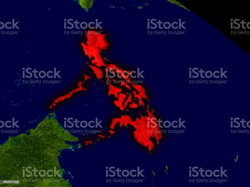 Philippines from space stock photo