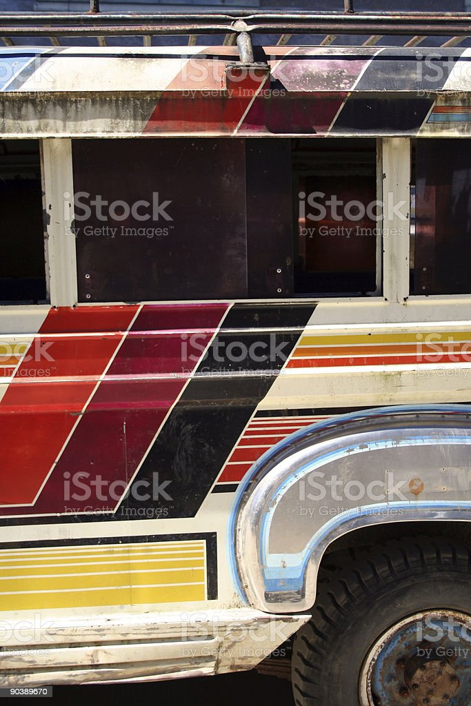 philippines jeepney local bus detail royalty-free stock photo