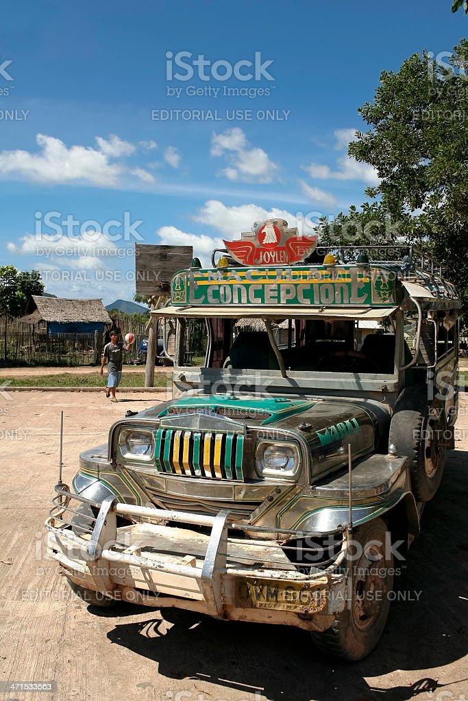 philippines jeepney public transport coron island royalty-free stock photo