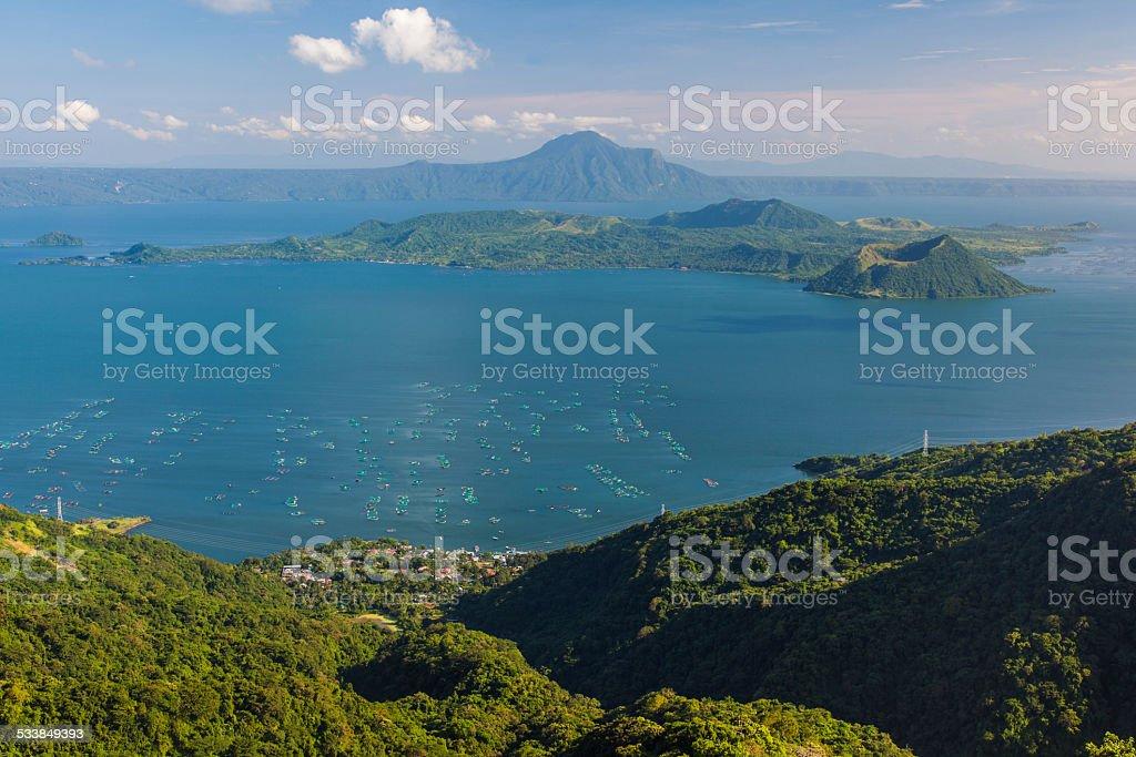 Philippines, Lake Taal Volcano. Tagaytay stock photo
