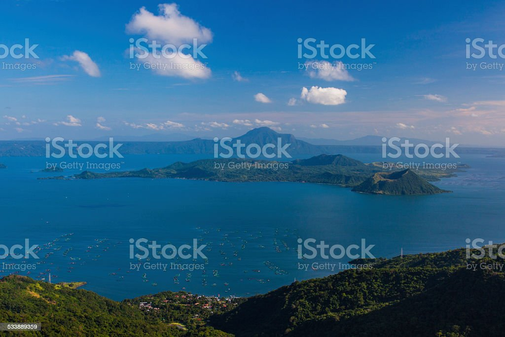 Philippines, Lake Taal Volcano. Tagaytay stock photo