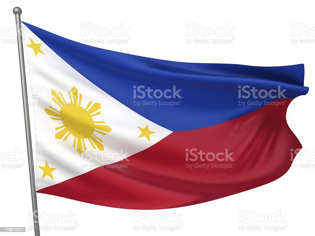 Philippines National Flag royalty-free stock photo