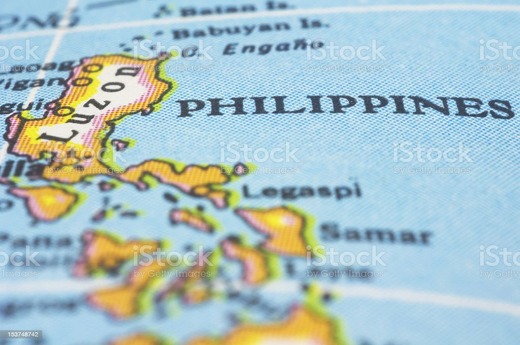 philippines on map stock photo