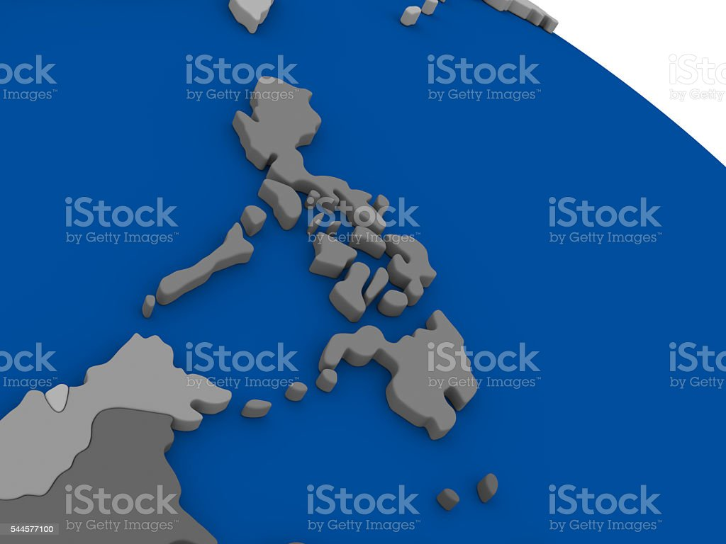 Philippines on political map stock photo