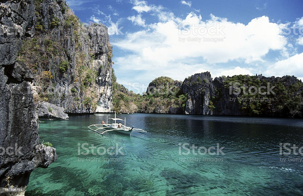 Philippines, Palawan, Miniloc Island. stock photo