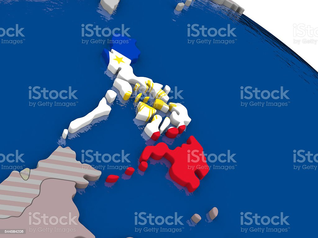 Philippines with flag stock photo