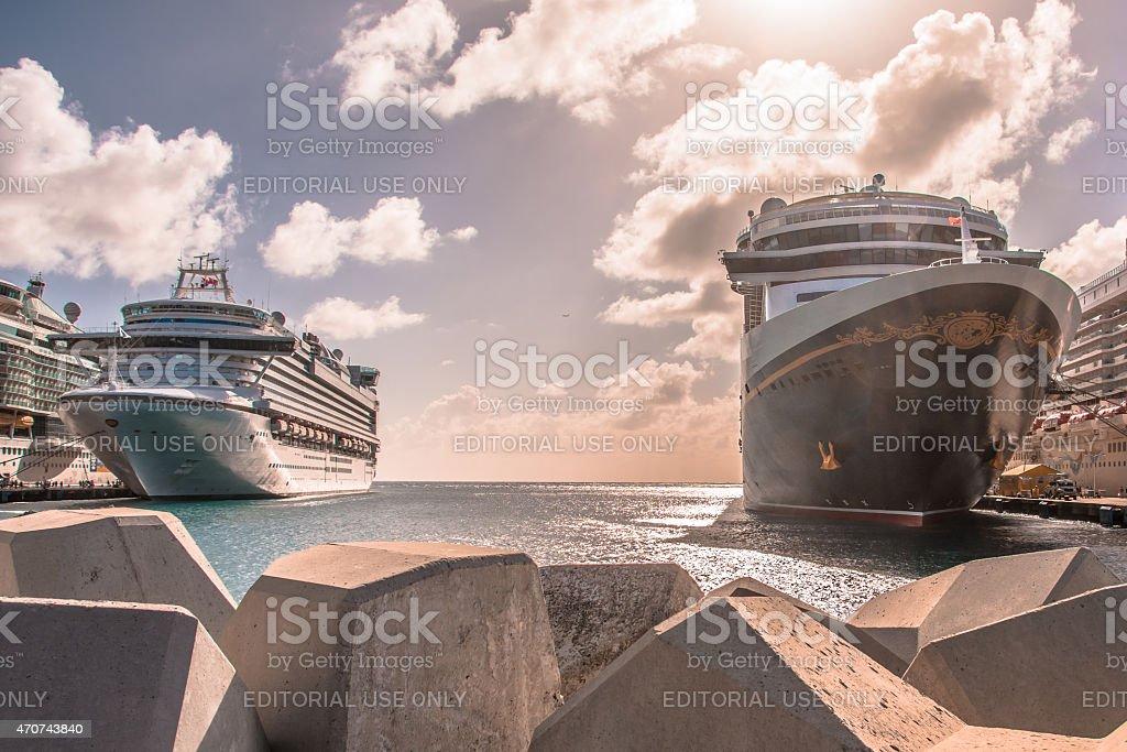 Philipsburg Cruise Ship Port stock photo