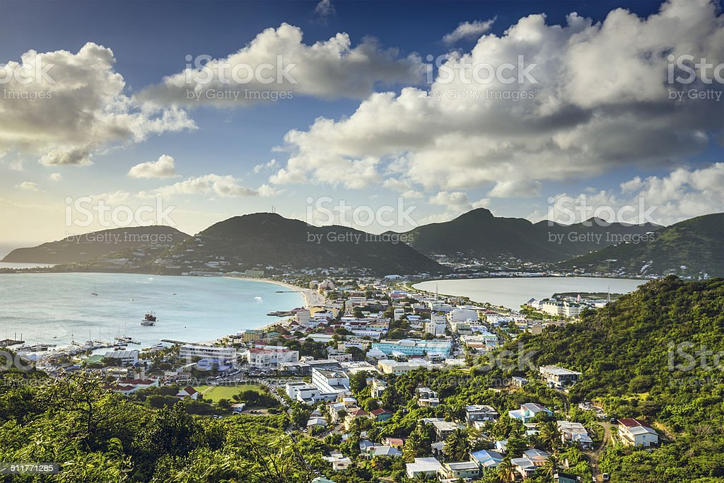 Philipsburg, Sint Maarten stock photo